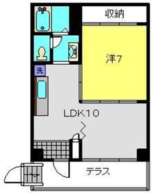 楓マンション1階Fの間取り画像