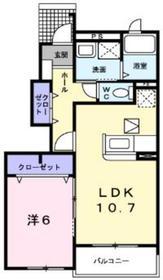 アクティブⅡ1階Fの間取り画像