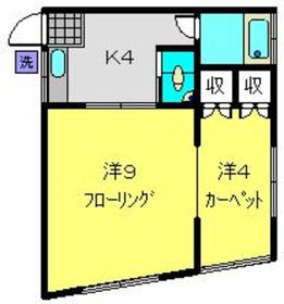 藤井荘1階Fの間取り画像