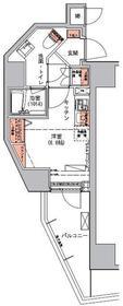 ハーモニーレジデンス三田13階Fの間取り画像