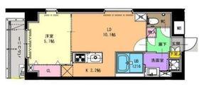 クレサール横中3階Fの間取り画像