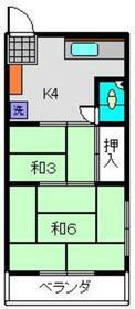 桜湯ビル2階Fの間取り画像