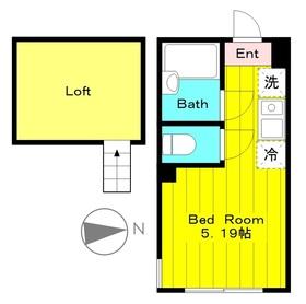 プライムテラス登戸B棟1階Fの間取り画像