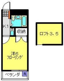 メイゾン二俣川2階Fの間取り画像