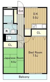 大和瓦マンション3階Fの間取り画像