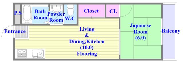 グリーンハイツ竜田 バストイレがセパレート、独立洗面所のある使い易い間取りです。