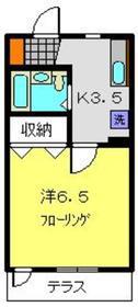 佐藤アパート1階Fの間取り画像