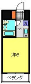 関内駅 徒歩12分2階Fの間取り画像