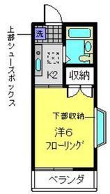 パペチェル横浜2階Fの間取り画像
