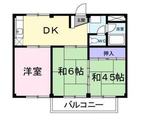 シティハイツケヤキⅡ1階Fの間取り画像