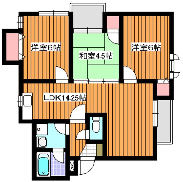 地下鉄赤塚駅 徒歩18分間取図