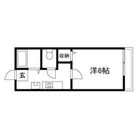 ハピネス・スダ1階Fの間取り画像
