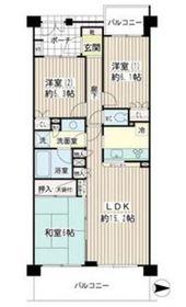 ナイスビューリヨン横濱鶴見7階Fの間取り画像