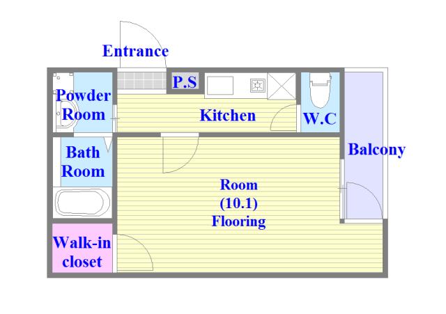 フジパレス高井田西Ⅰ番館 バストイレがセパレート、独立洗面所のある使い易い間取りです。