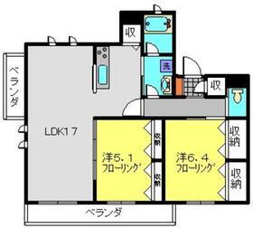 大倉山弐番館4階Fの間取り画像