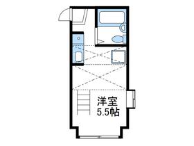 パンシオンかしわ台No.12階Fの間取り画像
