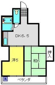 八木ビル2階Fの間取り画像