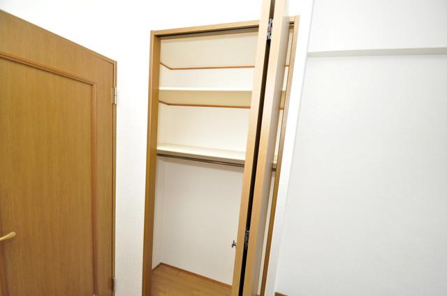 リンクスイン東大阪Part2 もちろん収納スペースも確保。いたれりつくせりのお部屋です。