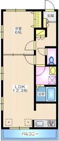 ドリームハイ四季美台1階Fの間取り画像