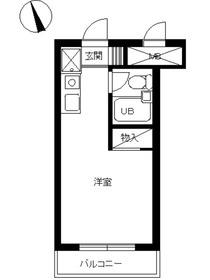 スカイコート新宿第62階Fの間取り画像