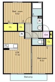 カーサフィオーレA1階Fの間取り画像