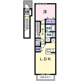 マーベラスハウス2階Fの間取り画像