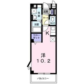 プリムローズ Ⅱ3階Fの間取り画像