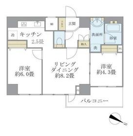 エルハイム西横浜3階Fの間取り画像