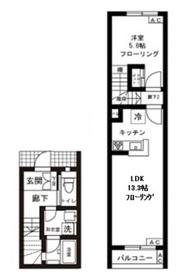 バーン神楽坂1階Fの間取り画像