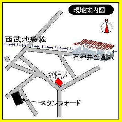 石神井公園駅 徒歩4分案内図