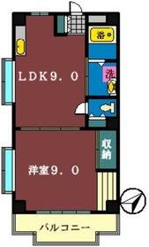 山手ハイツ3階Fの間取り画像
