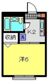 元住吉駅 徒歩18分2階Fの間取り画像