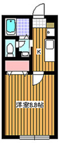 パーシモンミノリ2階Fの間取り画像