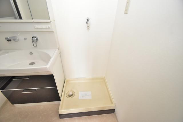 グランドメゾン樋口 嬉しい室内洗濯機置場。これで洗濯機も長持ちしますね。