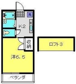 グレースハイツⅡ1階Fの間取り画像