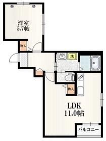 STOCKレジデンス3階Fの間取り画像