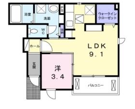 リリアベル1階Fの間取り画像