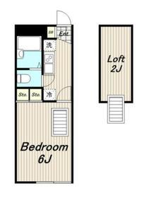 レオパレスティンカーベル2階Fの間取り画像