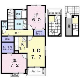 ガーデンプレイス プロムナード3階Fの間取り画像