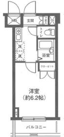 T&G四谷マンション7階Fの間取り画像