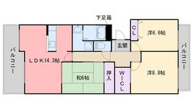 西福岡マリナタウンウェーブコーストV番館5階Fの間取り画像