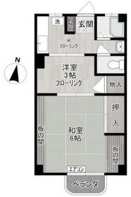 ヨシザワマンション(ヨシザワマンション)3階Fの間取り画像