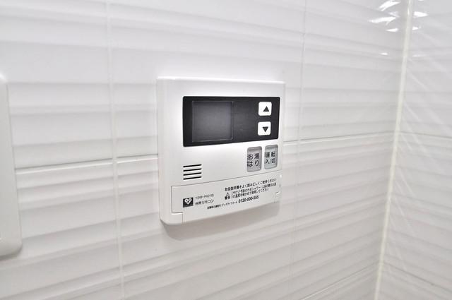 サムティ大阪GRAND EAST 給湯リモコン付。温度調整は指1本、いつでもお好みの温度です。