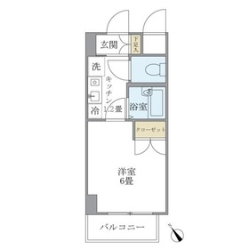 KDXレジデンス横浜関内3階Fの間取り画像