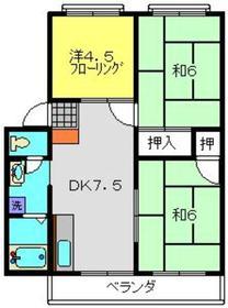 ガーデンフラットⅠ2階Fの間取り画像