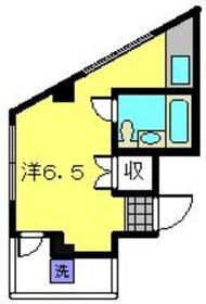 カラサワビル2階Fの間取り画像