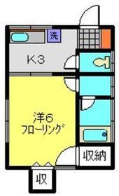 ハイムりら2階Fの間取り画像
