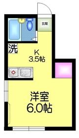 高瀬ビル3階Fの間取り画像