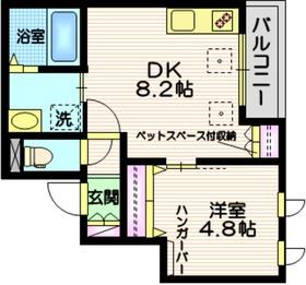 la maison Shirasawa2階Fの間取り画像