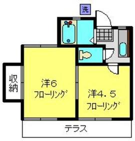 セトルフラット日野1階Fの間取り画像